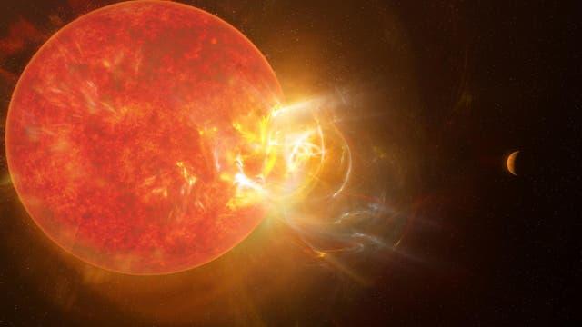 Strahlenausbruch von Proxima Centauri