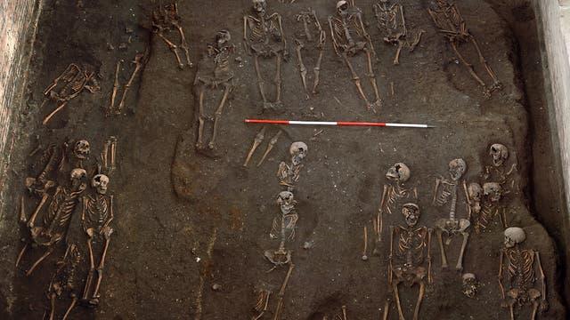 Mittelalterliche Skelette