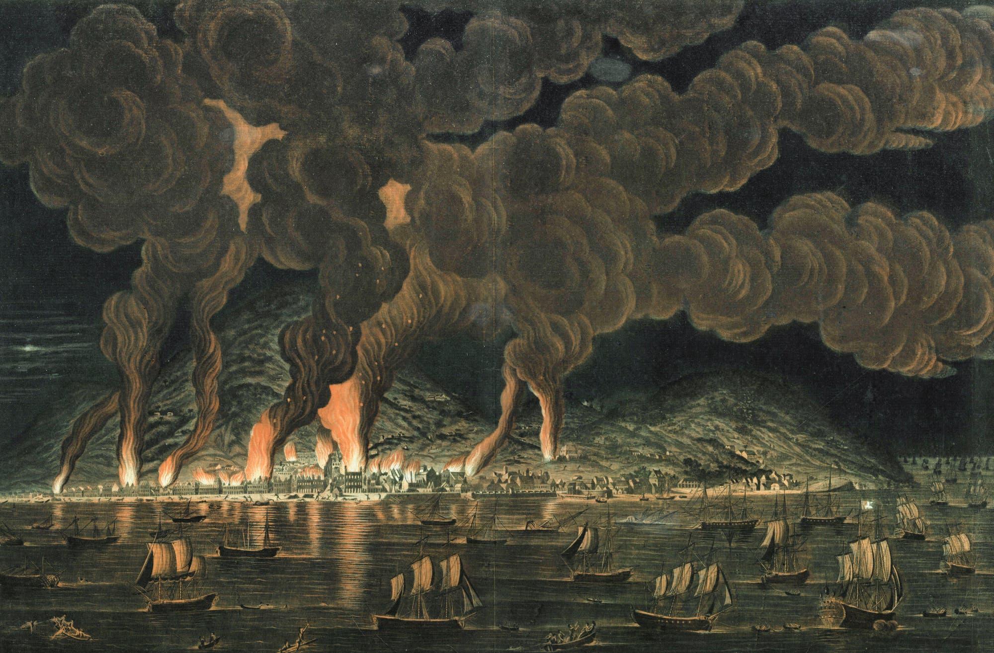 Brennende Hauptstadt