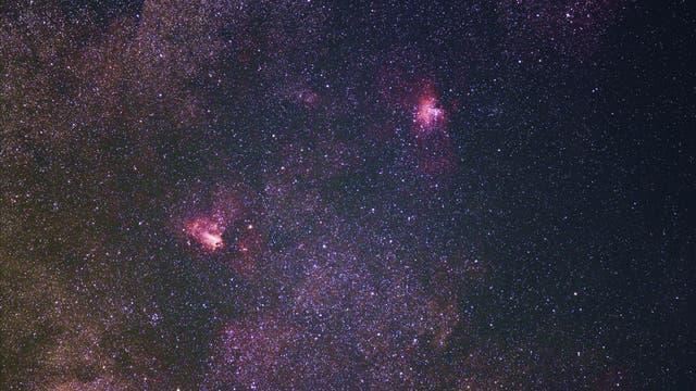 Die Emissionsnebel Messier 16 und 17