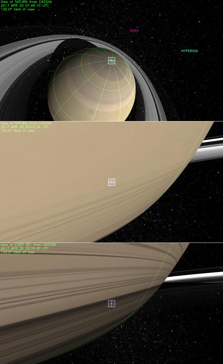 Cassinis Blick auf Saturn