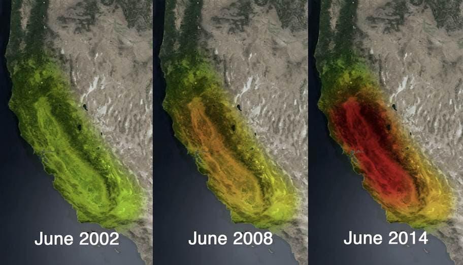 Massenverlust Kaliforniens