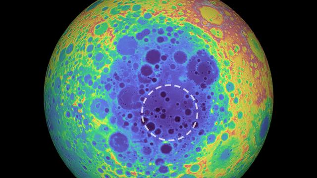 Das tiefste Loch auf dem Mond