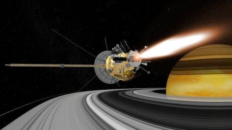 Durchflug durch Saturns Ring