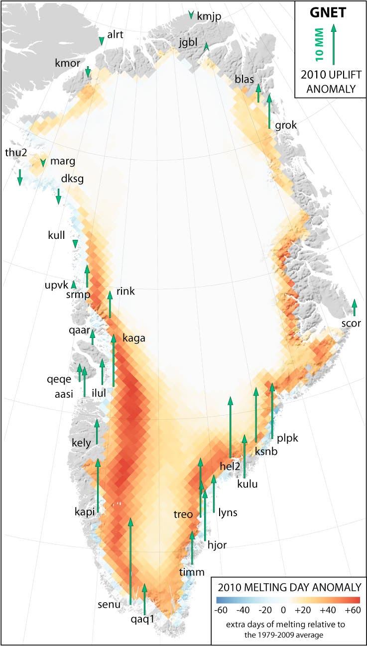 Grönlandschmelze 2010