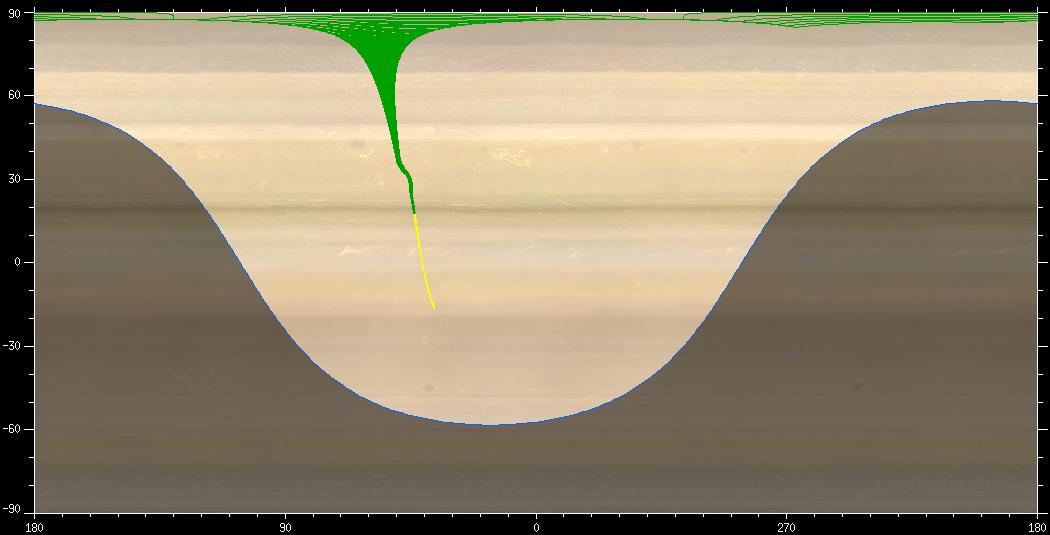 284 kleine Ausschnitte der Saturnatmosphäre