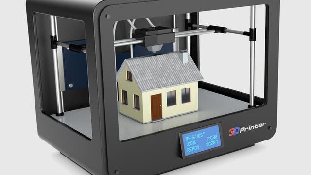Haus im 3-D-Drucker