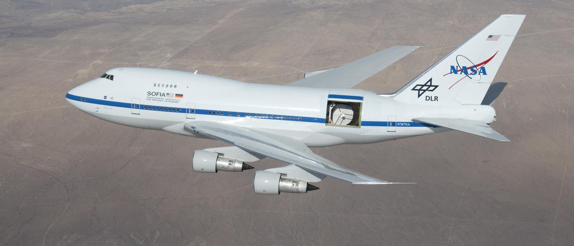 Die Flugzeugsternwarte SOFIA beim Testflug