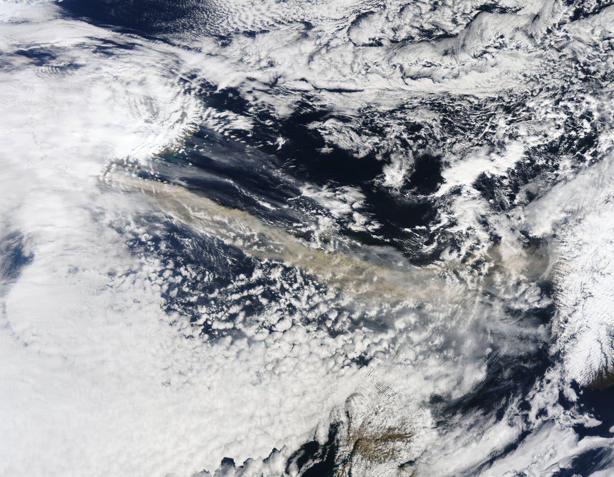 Asche über dem Atlantik