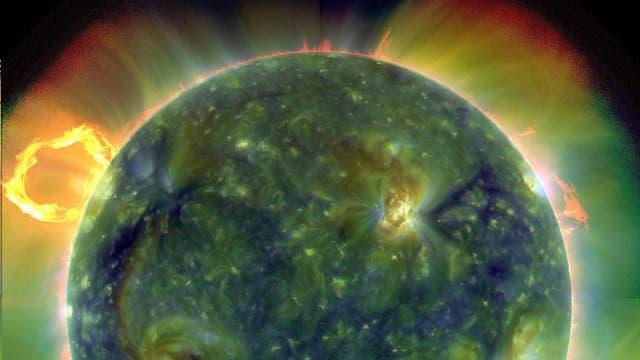 Die Sonne in Falschfarben