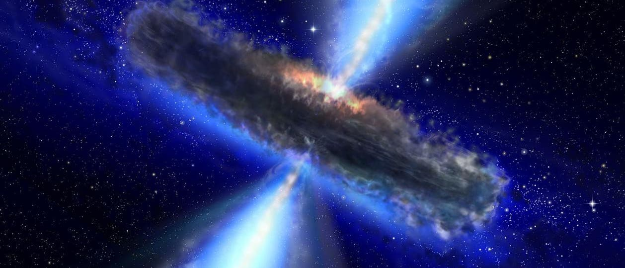 Quasar im Wasserdampf