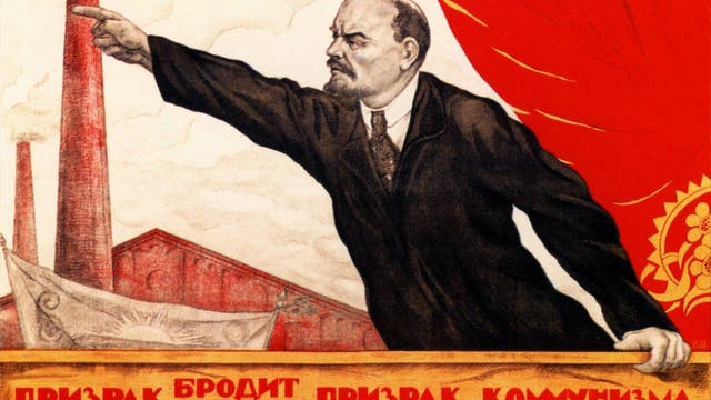 Lenin zeigt die Richtung