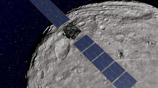 Die Raumsonde Dawn bei Vesta