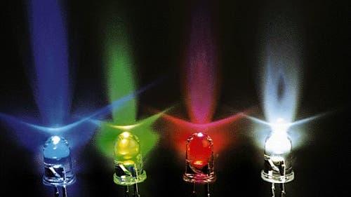 Farbenfrohes Lichterspiel
