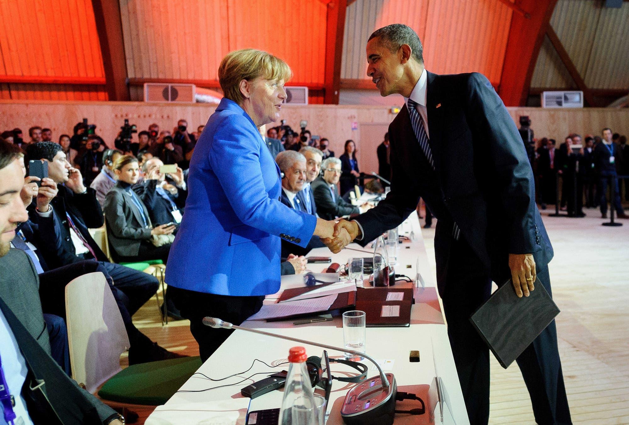 Angela Merkel und Barack Obama auf dem Pariser Klimagipfel 2015