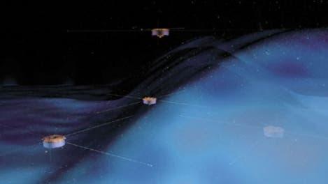 Cluster-Sonden erforschen das Magnetfeld der Erde und der Sonne