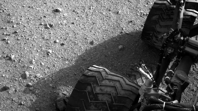 Staubspuren auf Curiositys Reifen