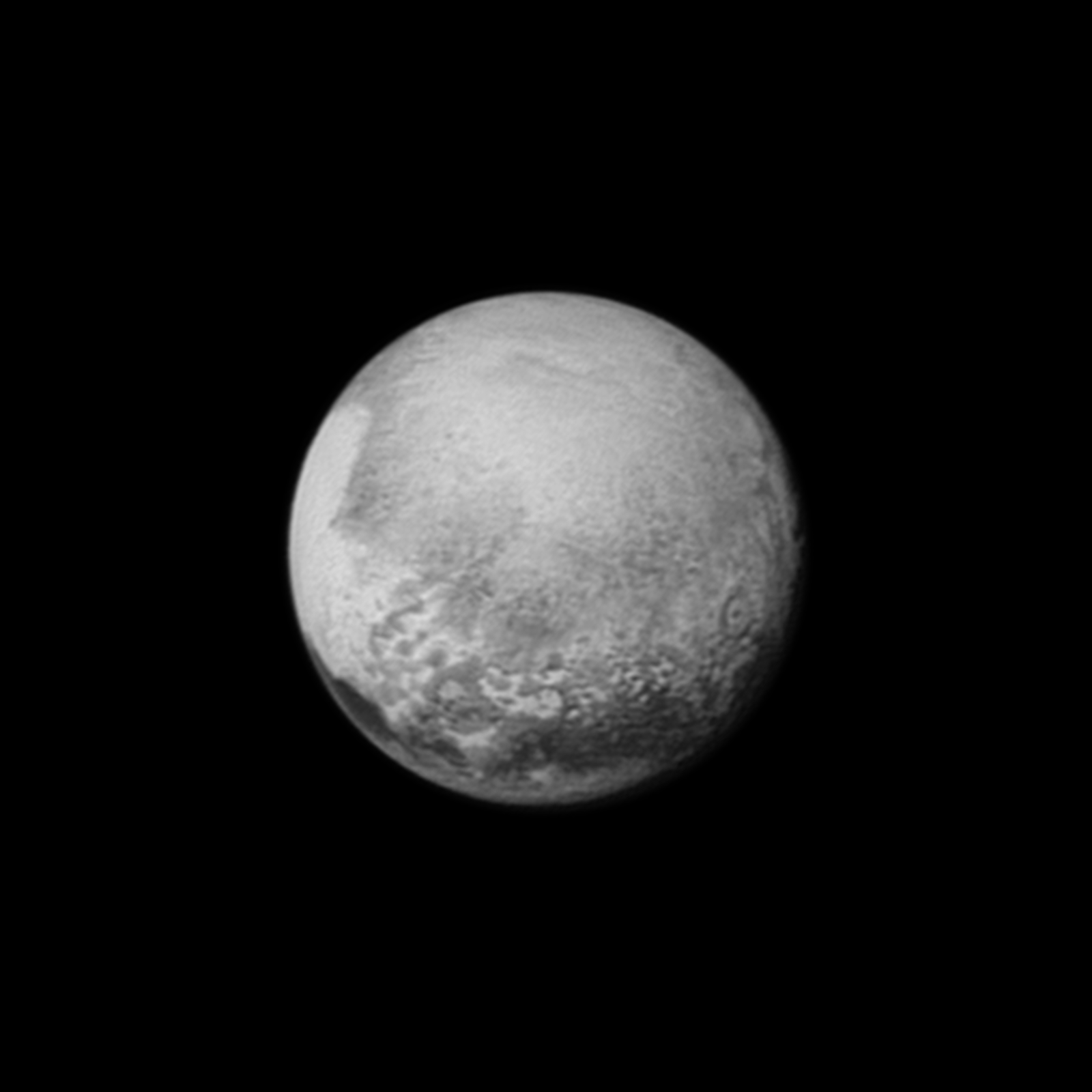 Pluto am 12. Juli 2015