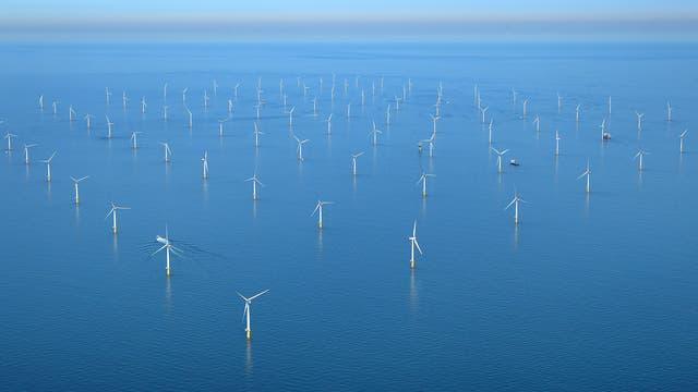 Vor der britischen Küste erstreckt sich der Windpark Sheringham Shoal.