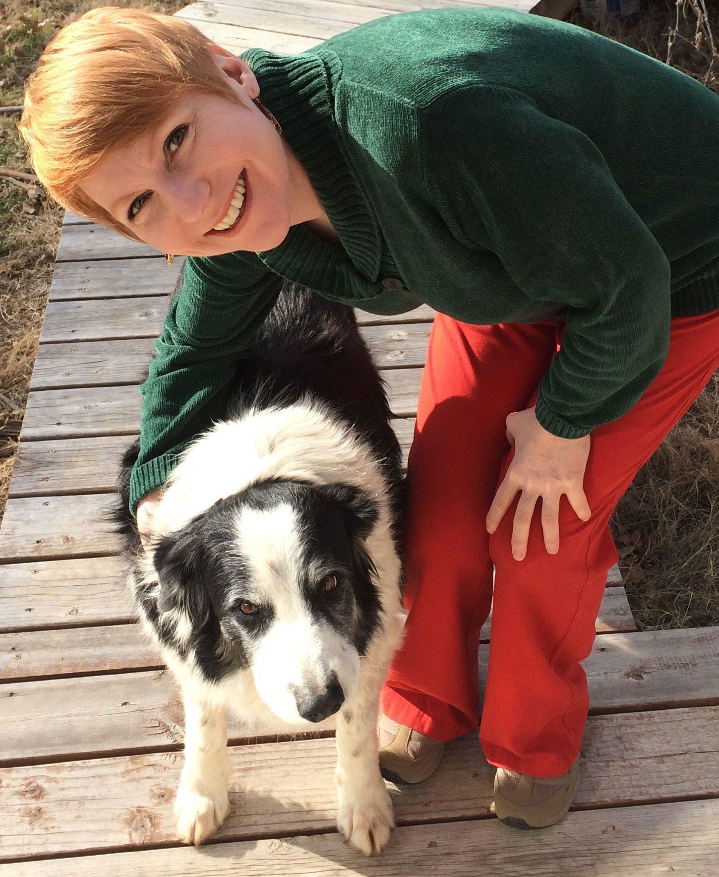 Forscherin Christine Harris mit Border Collie Samwise