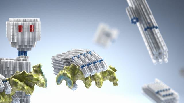 DNA-Nanoroboter in künstlerischer Darstellung