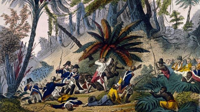 Französische Truppen waren 1802 auf Saint-Domingue, dem damaligen Haiti, gelandet, um den Anführer der Revolution, Toussaint Louverture, gefangen zu setzen.