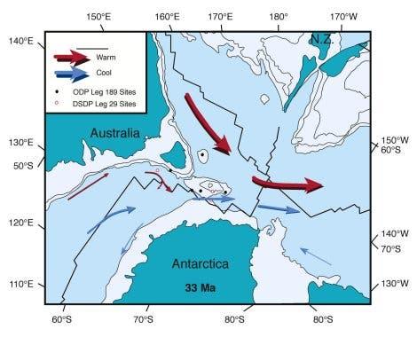 Meeresströmungen um Antarktis