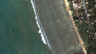 Küste Sri Lankas nach Tsunami