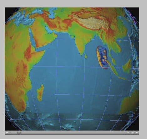 Ausbreitung von Tsunami-Wellen (1)