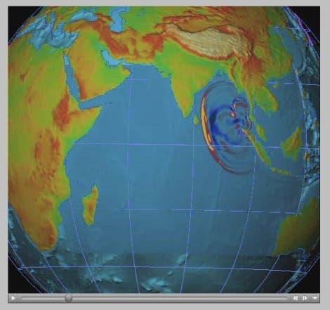 Ausbreitung von Tsunami-Wellen (2)