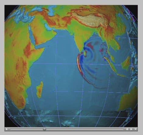 Ausbreitung von Tsunami-Wellen (3)