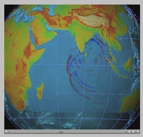 Ausbreitung von Tsunami-Wellen (4)