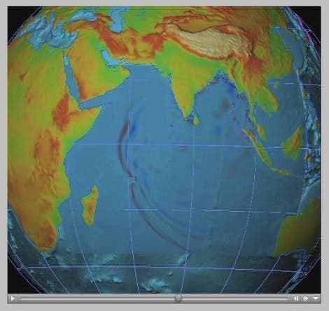 Ausbreitung von Tsunami-Wellen (5)