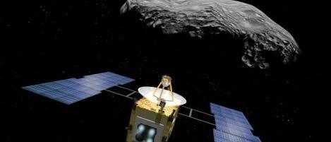Hayabusa  beim Asteroidendate