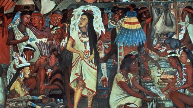 Malinche auf dem Markt von Tenochtitlan
