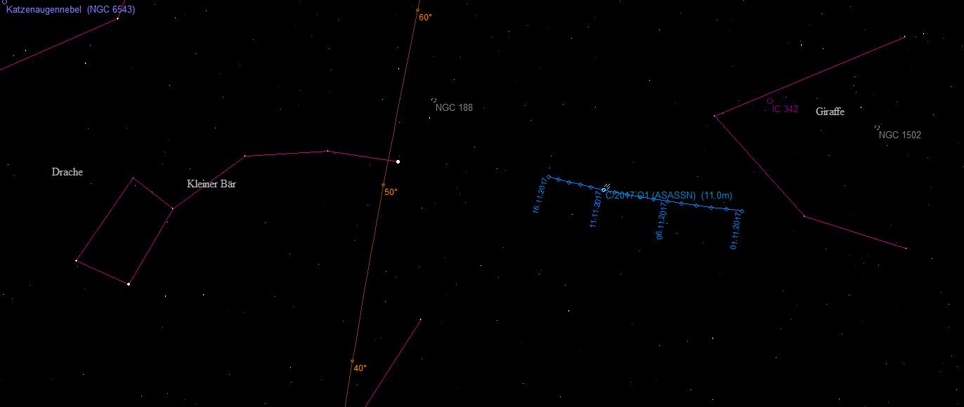 Aufsuchkarte für C/2017 O1 ASASSN