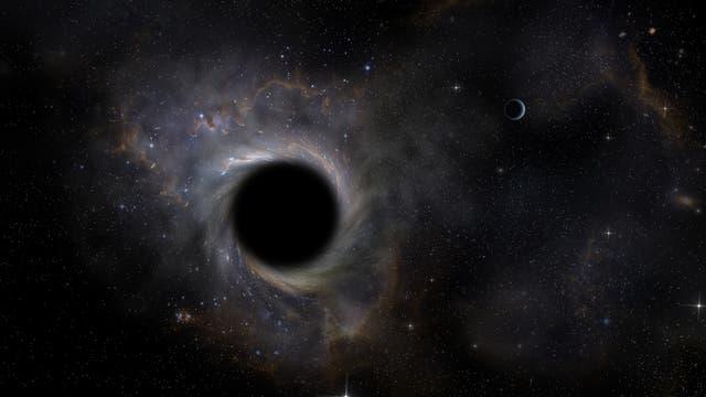 Schwarzes Loch (künstlerische Darstellung)