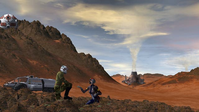 Mars mit neuer Atmosphäre?
