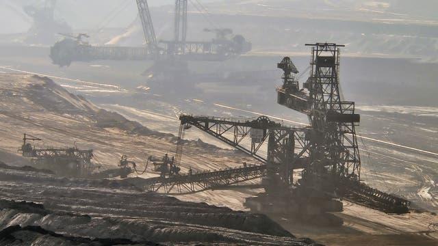 Kohlegewinnung im Tagebau