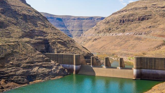 Wasserkraftwerk in Lesotho