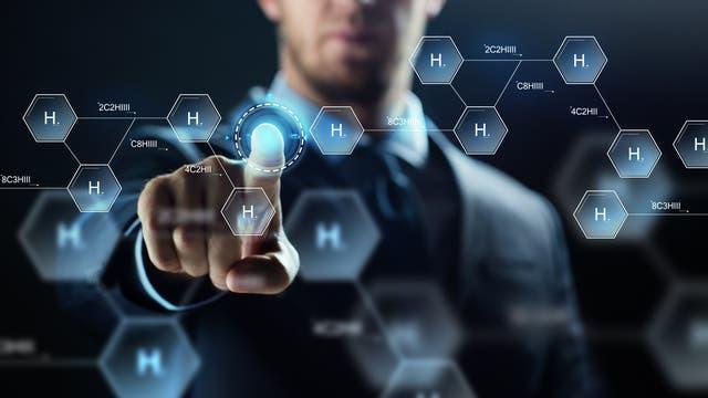 Virtuelles Entwerfen chemischer Formeln (Symbolbild)