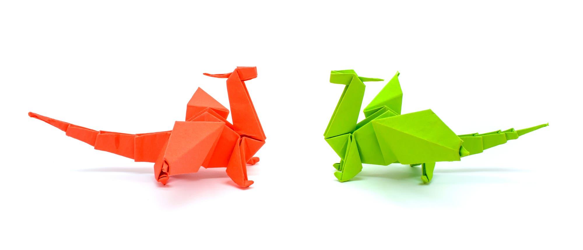 Origami-Drachen