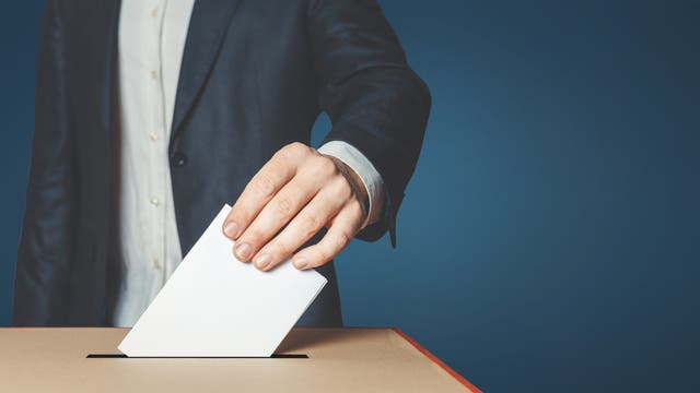 Stimmzettelabgabe