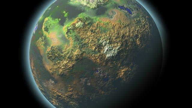 Exoplanet mit Atmosphäre