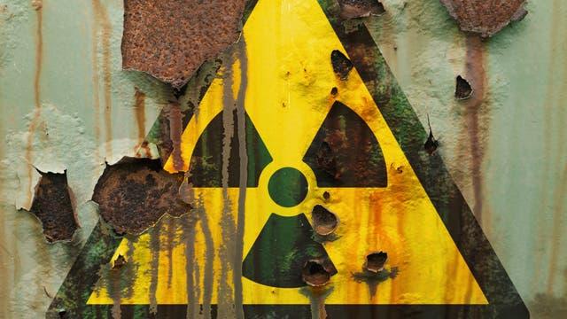Verrostetes Atommüllfass