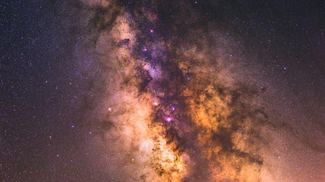 Milchstraße in der Sagittarius A Region