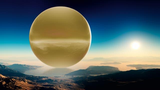 Die kilometergroße Goldkugel