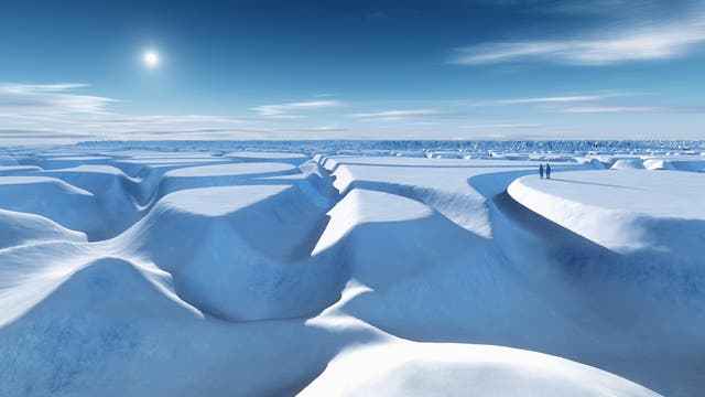 Schnee und Eis am Nordpol