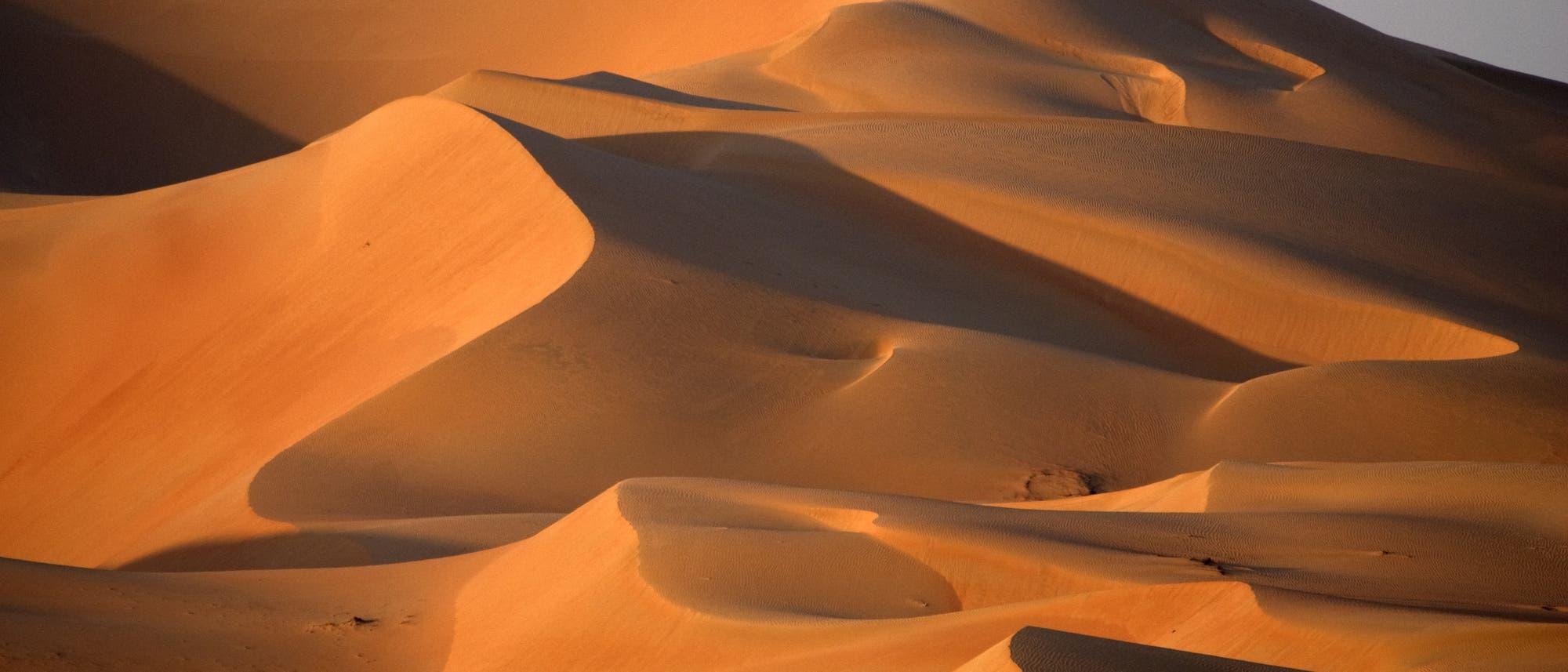 Sanddünen in der Wüste von Abu Dhabi