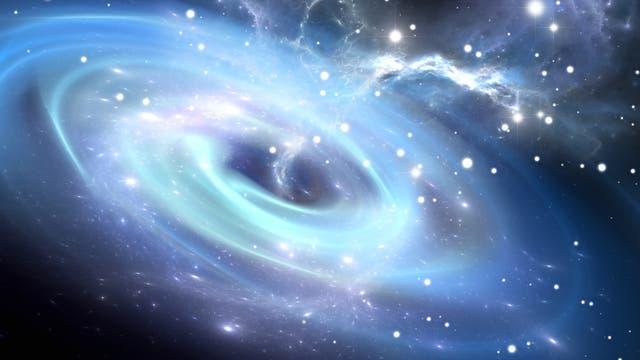 Künstlerische Darstellung davon, wie kein Schwarzes Loch jemals ausgesehen hat.